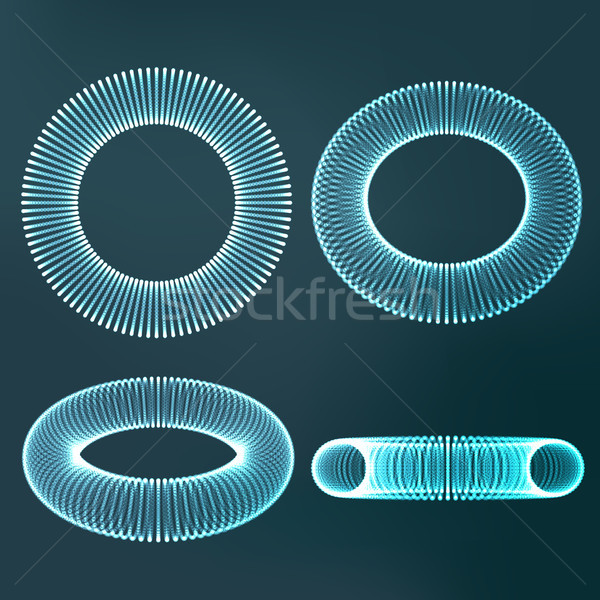Molecular Structure Vector. Strand. Futuristic Connection. Abstract Molecule Grid. Illustration Stock photo © pikepicture