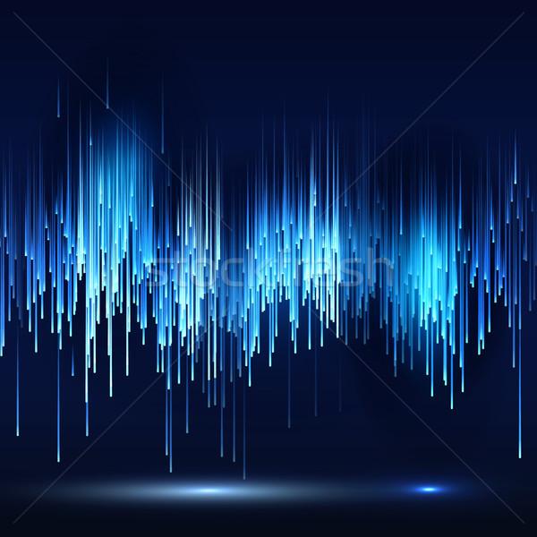 Scifi absztrakt futurisztikus technológia mátrix illusztráció Stock fotó © pikepicture