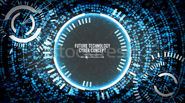 Future Technology Cyber Concept Background. Abstract Security Cyberspace. Electronic Data Connect. G Stock photo © pikepicture