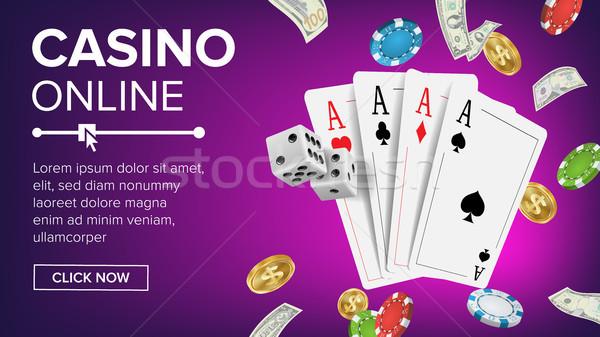 Foto d'archivio: Casino · poker · design · vettore · online · fortunato