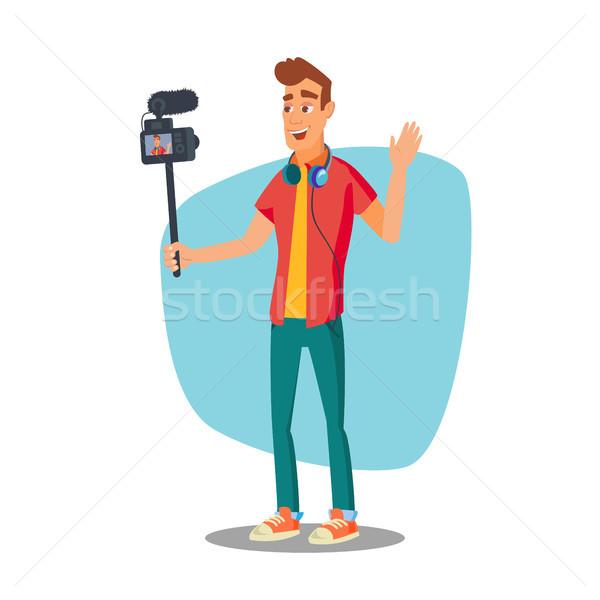 видео блоггер вектора жизни клипа съемки Сток-фото © pikepicture