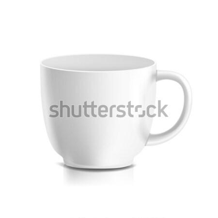 Witte mok vector 3D realistisch keramische Stockfoto © pikepicture