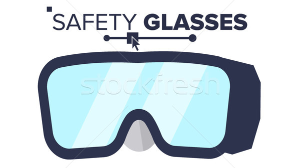 Safety Glasses Vector. Industrial Glasses Icon. Protective Eyewear. Safety Builder Googles. Isolated Stock photo © pikepicture