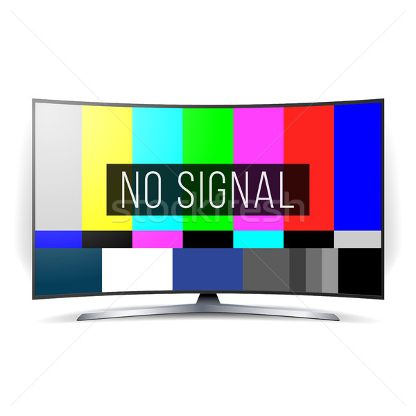 No Signal TV Test Vector. Lcd Monitor. Flat Screen TV. Television Colored Bars Signal. SMPTE Color b Stock photo © pikepicture
