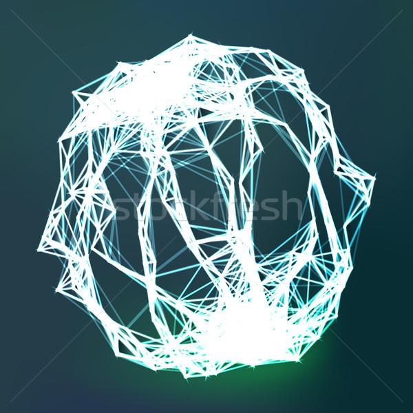 массив всплеск частицы линия цифровой аннотация Сток-фото © pikepicture