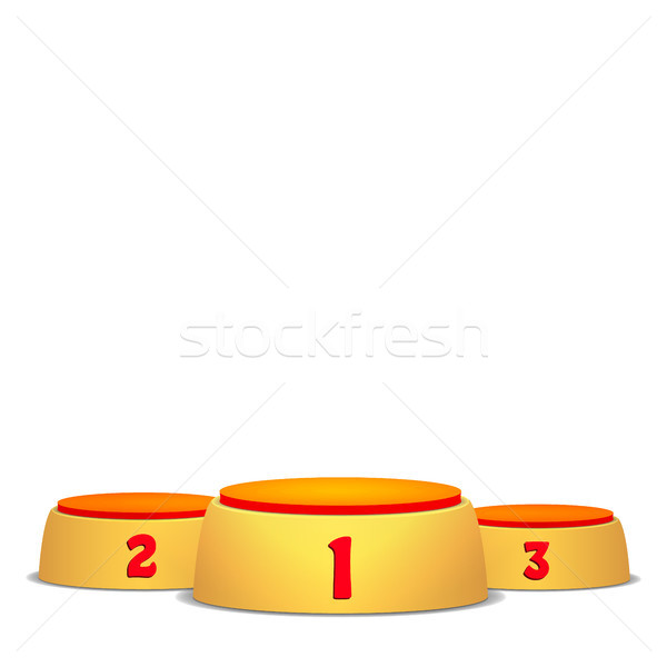 Stock photo: Empty Vector Podium. Round Winners Pedestal Concept With First, Second And Third Place For Award Cer