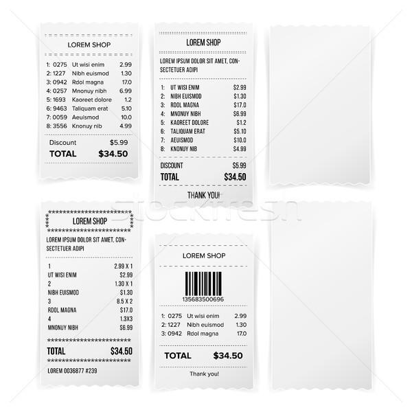 De vendas impresso recebimento branco vazio papel Foto stock © pikepicture