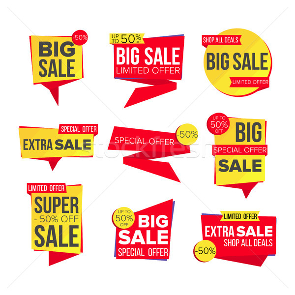 Sale Banner Set Vector. Discount Tag, Special Offer Banner. Special Offer Templates. Best Offer Adve Stock photo © pikepicture