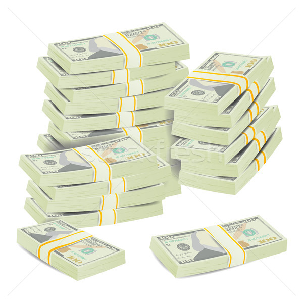Money Stacks Vector. Realistic Concept Stock photo © pikepicture