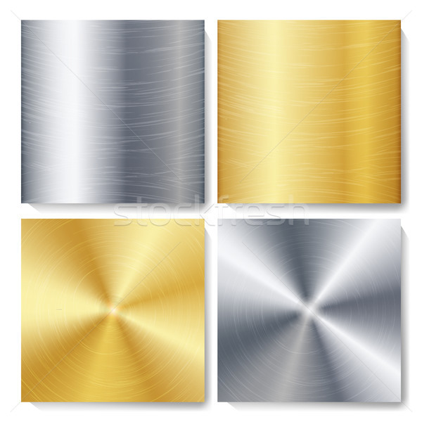 Stock photo: Gold, Bronze, Silver, Steel Metal