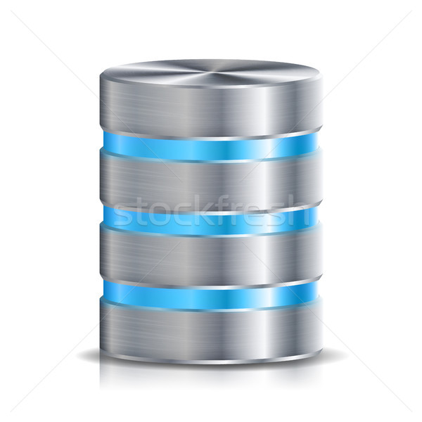 Red base de datos disco icono vector Foto stock © pikepicture