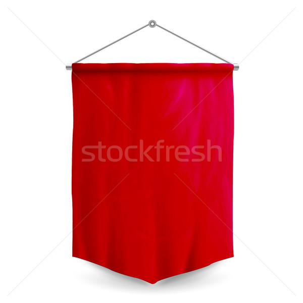 Rojo plantilla vector vacío 3D realista Foto stock © pikepicture