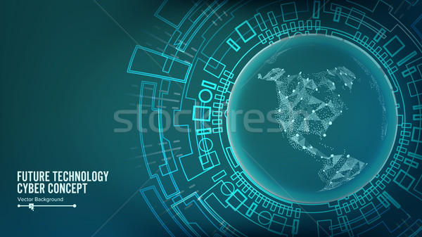 Futuristische technologie verbinding structuur vector abstract Stockfoto © pikepicture