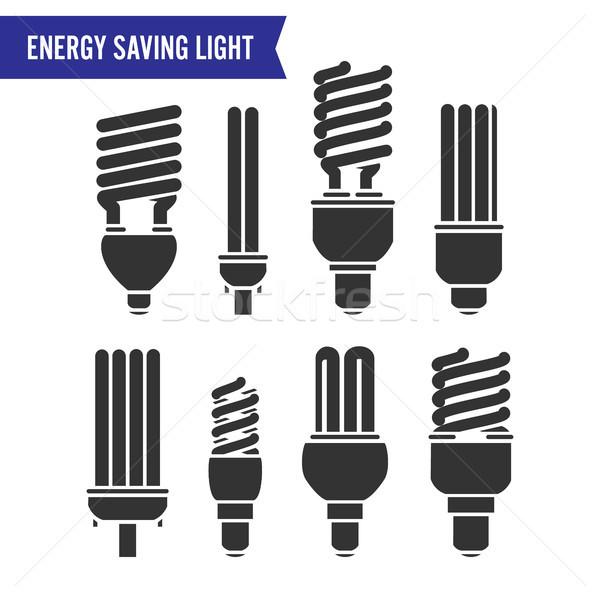 Energy Saving Light Vector Stock photo © pikepicture