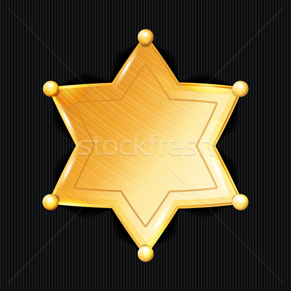 Sheriff Badge Star Vector. Classic Symbol. Municipal City Law Enforcement Department. Stock photo © pikepicture