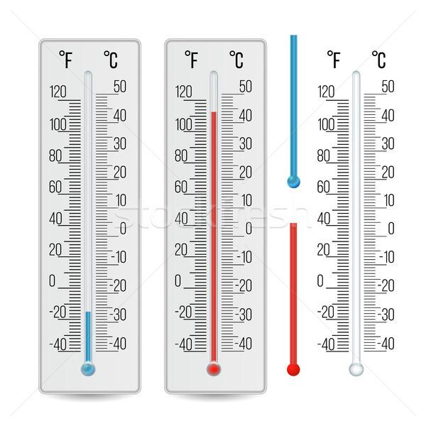 Termometr wektora zewnątrz alkoholu zestaw Zdjęcia stock © pikepicture