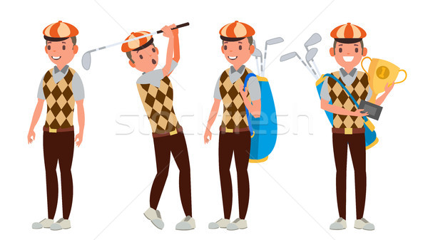 Profissional jogador de golfe vetor jogar jogador de golfe masculino Foto stock © pikepicture