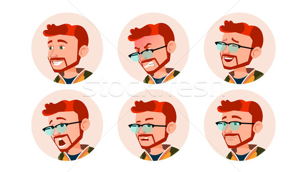 человека Аватара люди вектора комического Сток-фото © pikepicture