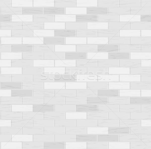 Stock fotó: Tégla · végtelenített · vektor · piros · fal · illusztráció