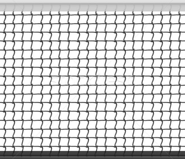 Tennis net horizontal Vektor Fußball Stock foto © pikepicture