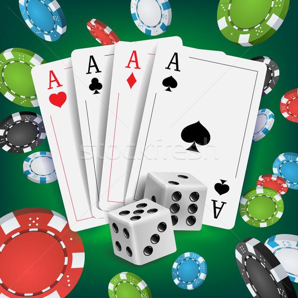 Cassino pôquer projeto vetor cartões jogar Foto stock © pikepicture