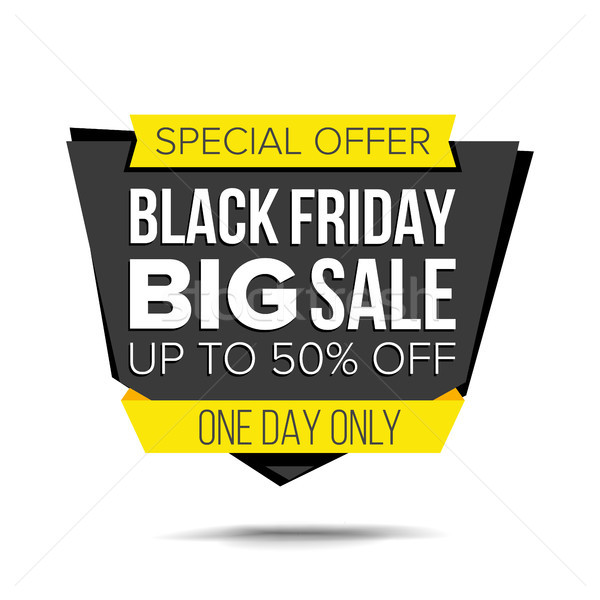 Black Friday Sale Banner Vector. Up To 50 Percent Off Friday Badge. Crazy Sale Poster. Isolated Illu Stock photo © pikepicture