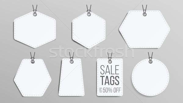 продажи вектора белый пусто торговых Сток-фото © pikepicture