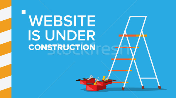 Website Under Construction Vector. Landing Page. Error Website Page. Coming Soon. Design, Developmen Stock photo © pikepicture