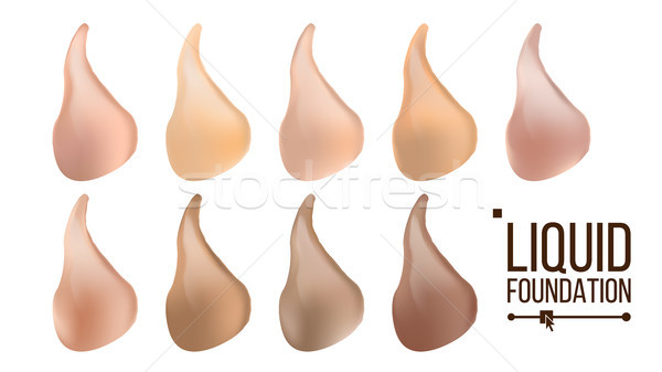 Liquid Foundation Vector. Face Cream. Beautiful Lotion. Facial Concealer For Makeup. Realistic Isola Stock photo © pikepicture