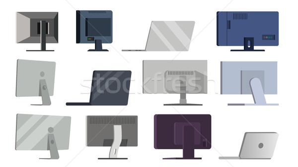 Monitor Set Vector. Different Types Modern Monitors, laptop. Office, Home, Computer Monitors Screen, Stock photo © pikepicture