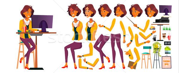 Kantoormedewerker vector vrouw communie lifestyle generator Stockfoto © pikepicture