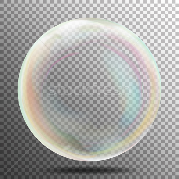 Transparent bulle de savon vecteur réaliste air bulle Photo stock © pikepicture