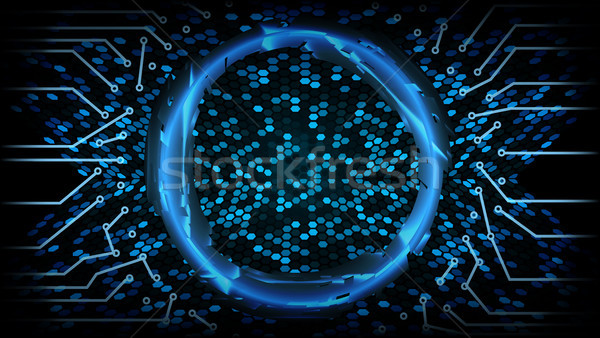 Future Technology Cyber Concept Background. Abstract Hi Speed Digital Design. Security Network Backd Stock photo © pikepicture
