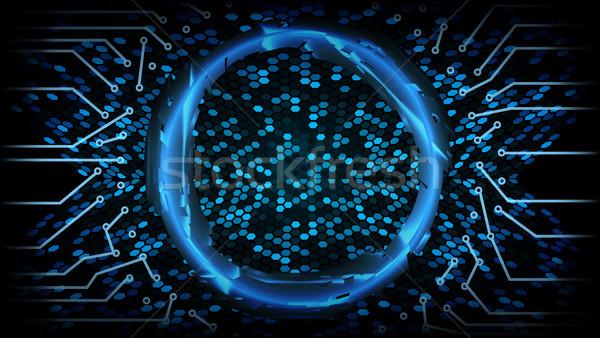 ストックフォト: 将来 · 技術 · 抽象的な · 速度 · デジタル · デザイン