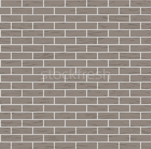 Seamless Brown Brick Wall Vector Background Illustration Stock photo © pikepicture
