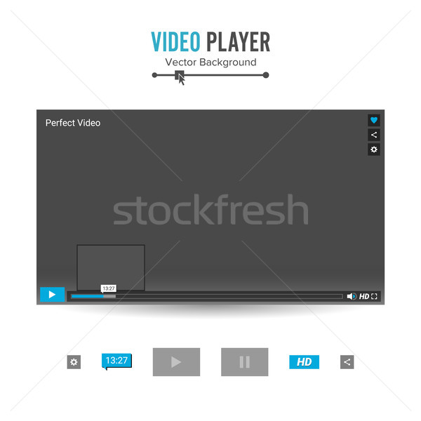 Video speler interface sjabloon vector vooruitgang Stockfoto © pikepicture