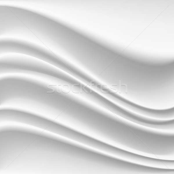Wavy Silk Abstract Background Vector. Realistic Fabric Silk Texture With Pleats. Stock photo © pikepicture