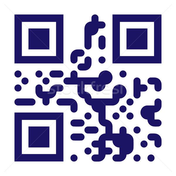 Próba qr code wektora skanować monochromatyczny Zdjęcia stock © pikepicture