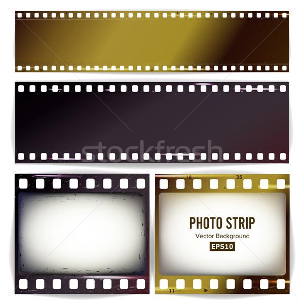 写真 ベクトル 現実的な 空っぽ フレーム グランジ ストックフォト © pikepicture