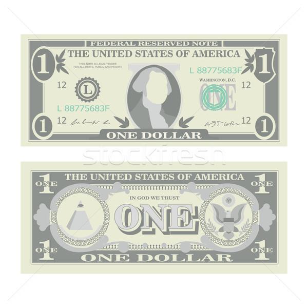 1 Dollar Banknote Vector. Cartoon Stock photo © pikepicture