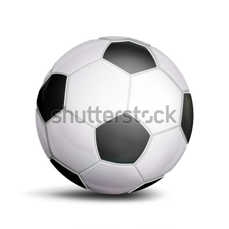 Football Ball Vector. Sport Game Symbol. Realistic Soccer Ball. Illustration Stock photo © pikepicture