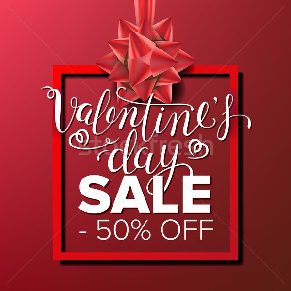 Valentine s Day Sale Banner Vector. Business Advertising Illustration. February 14 Sale Poster. Temp Stock photo © pikepicture