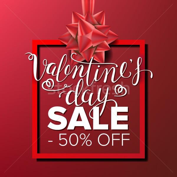 Valentin nap nap vásár szalag vektor üzlet Stock fotó © pikepicture