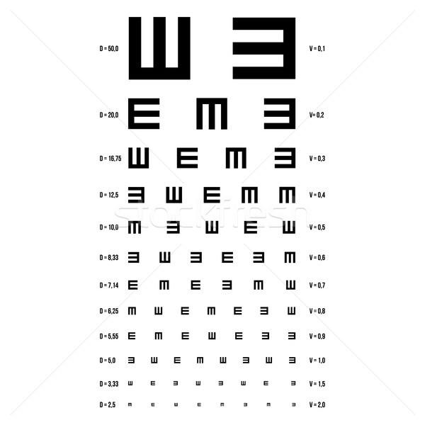 Látásvizsgálat diagram vektor előrelátás vizsga optometrikus Stock fotó © pikepicture