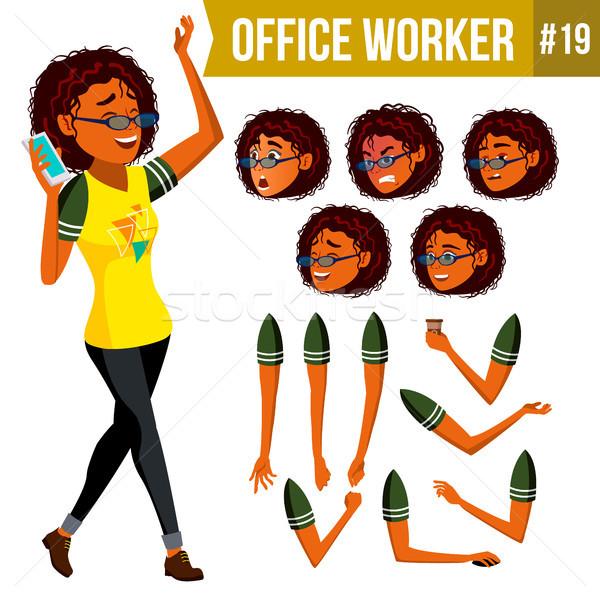 Kantoormedewerker vector vrouw moderne werknemer zakenvrouw Stockfoto © pikepicture