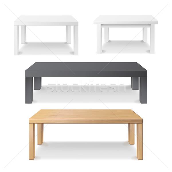 空っぽ 表 セット ベクトル 木製 プラスチック ストックフォト © pikepicture