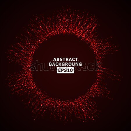 Robbanás izzó részecskék modern háttér technológia Stock fotó © pikepicture