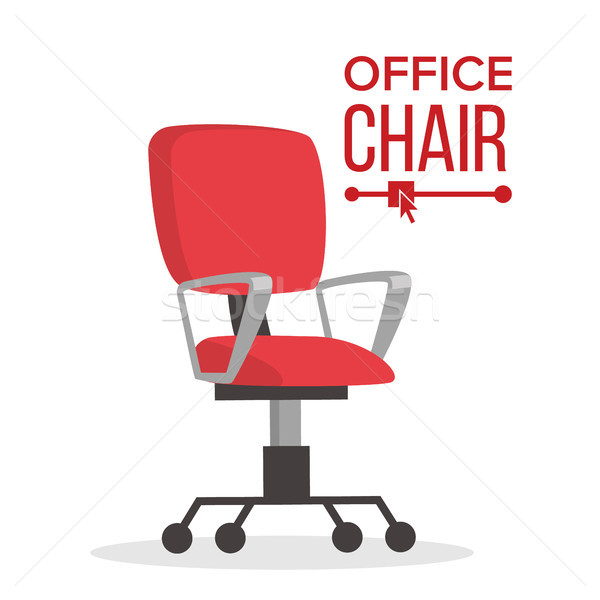 Office Chair Vector. Business Manager Empty Seat For Employee. Ergonomic Armchair For Executive Dire Stock photo © pikepicture