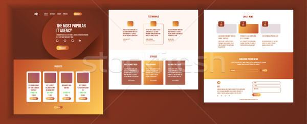 Fő- háló oldal terv vektor weboldal Stock fotó © pikepicture