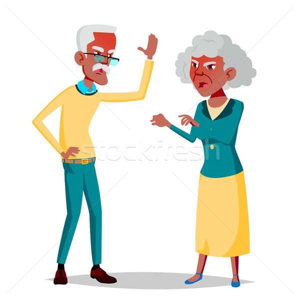 пожилого пару вектора дедушке бабушки социальной Сток-фото © pikepicture